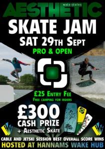 Aesthetic skate jam poster