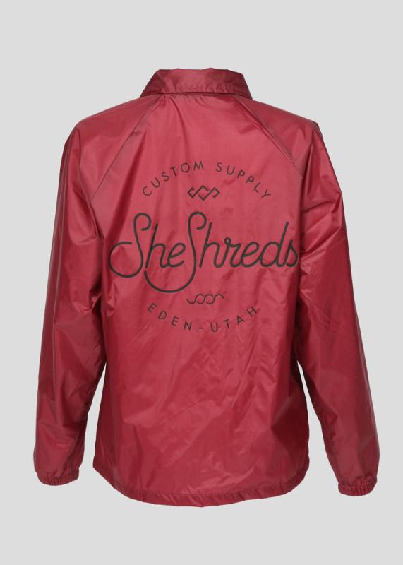 She Shreds Custom Supply Crew Jacket 2