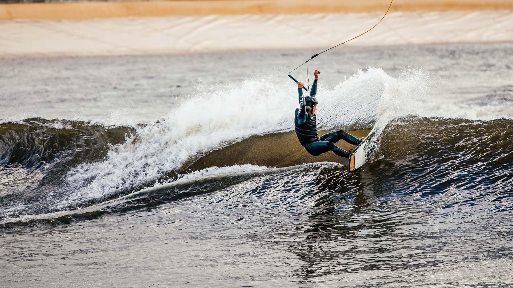 Wakeboard Wave Pool Action Nico Von Lerchenfeld
